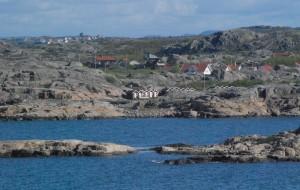 Utsikt från Hönö över Öckerö en solig Majdag