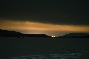 Ljuset från Kiruna långt söderöver