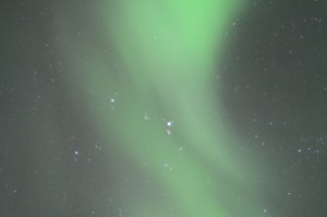 Stjärnor bortom norrskenet